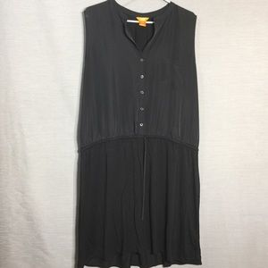 Joe fresh button down front sleeveless mini dress